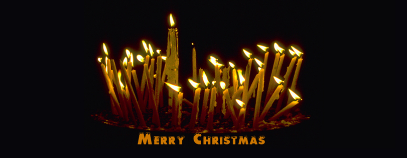 Christmas peace message - Candles in the Church of the Nativity, Bethlehem. 1999.
