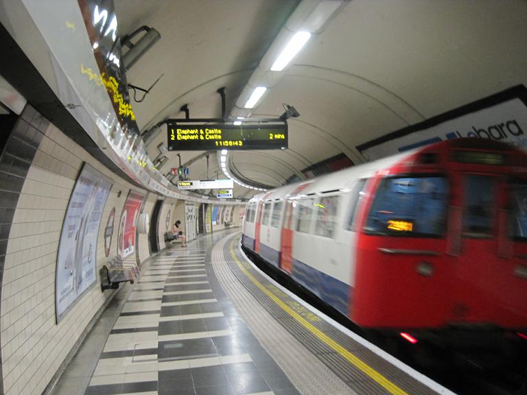 Underground train, Waterloo Station