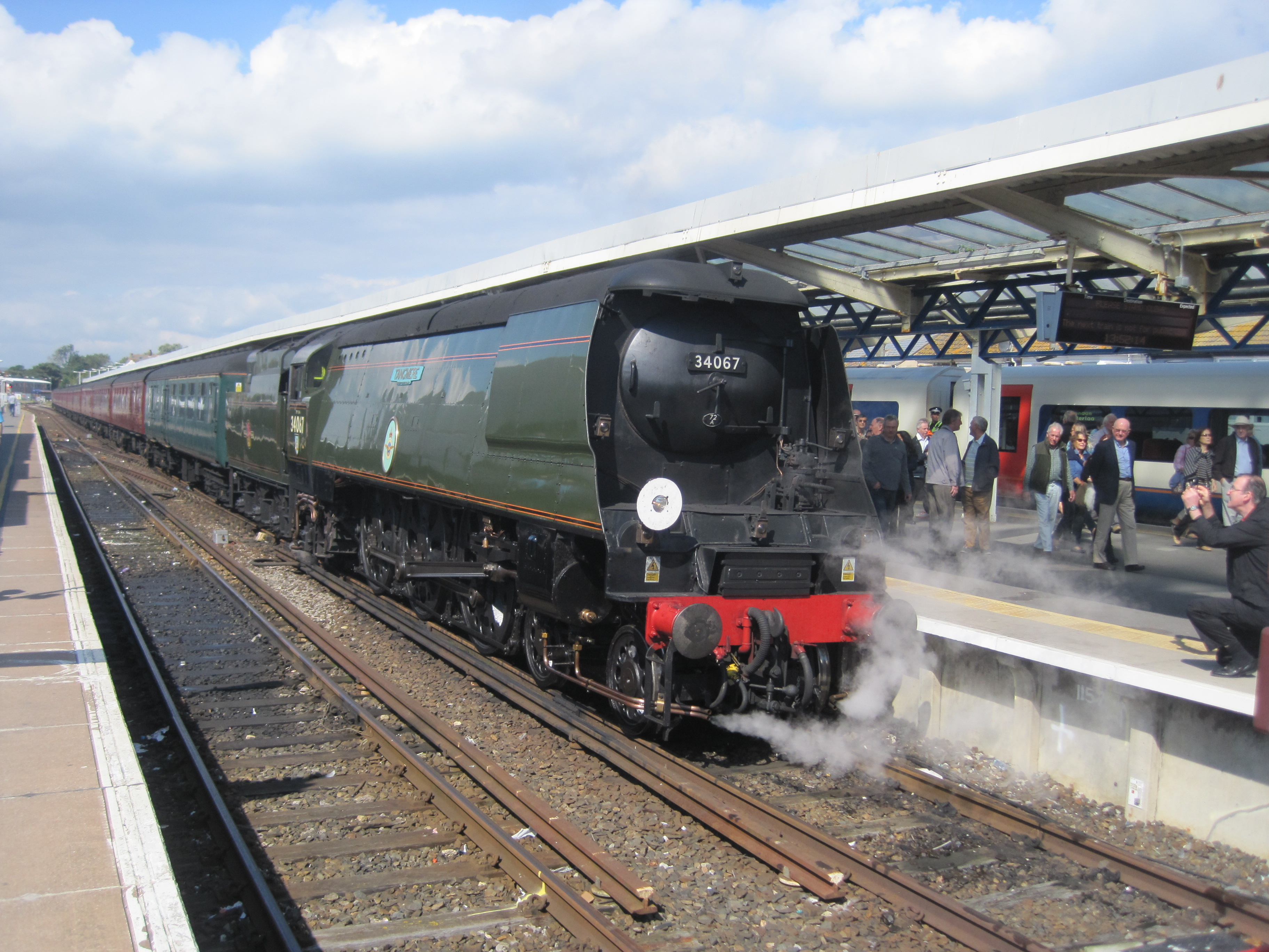 34067 Tangmere at Weymouth 9 September 2015