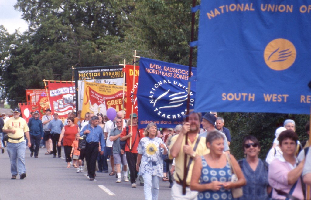Trade Unionists marching Image: John New