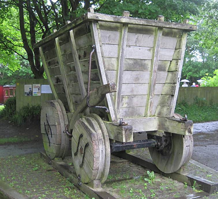 A wooden waggon at the Causey Arch. Typical of the early railway period.