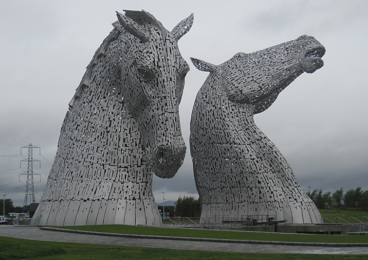 The Kelpie statues, at Falkirk.