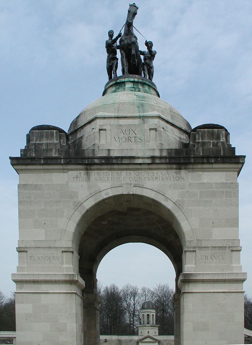 Detail from main entrance arch. (NB Has had digital adjustment)