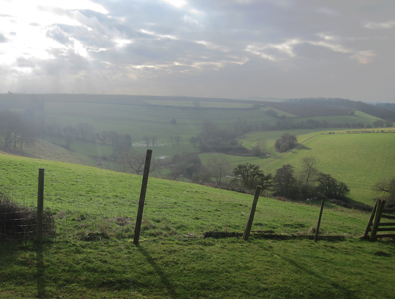 The view into 'Bloody Meadow' Towton, Yorks.